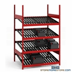 Battery Storage Rack SRP0460 Designed for storage of batteries at Auto Parts Stores, Repair and Maintenance Shops, RV Dealers