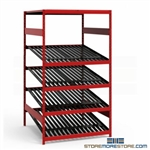 Battery Display Storage Rack With Welded Upright Assemblies