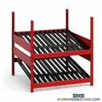 "Counter High Battery Storage Rack With Two Sloped Shelves (36"" Wide x 36"" Deep x 39"" High) #SMS-81-SRP0464"