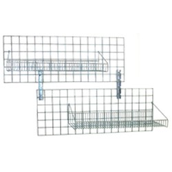 "18"" x 48"" Chrome Finish, Wall Grid Shelving - Walstor® Modular Wall System, #SMS-83-1848WGS-C"