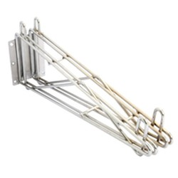 "18"" Wide Mid Unit, Stainless Steel Finish - Stationary Wire Wall Mounts, #SMS-83-DWB18-S"