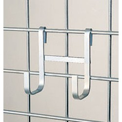 "2-1/4"" x 4-1/4"" x 3/8"" Large Double Hook. Made of Heavy Gauge Chrome-Plated Mild Steel, #SMS-83-LDH"