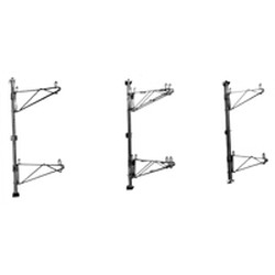 "24"" Chrome Finish, Mid Brackets - Individual Components, Adjustable Post Wire Wall Mounts. Must Be Used with Posts To Mount To The Wall, #SMS-83-PDWB24C"