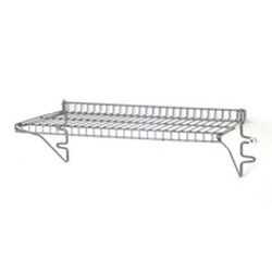 "12"" x 48"" Valu-Master® Grey Epoxy Finish, 140 Lbs. Weight Capacity - Snap-N-Slide® Wire Wall Shelf, #SMS-83-SNSW1248V"