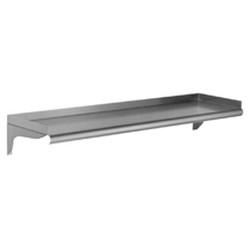 "10"" x 60"", 16/304 Stainless Steel - Wall Shelf, #SMS-83-WS1060-16/3"