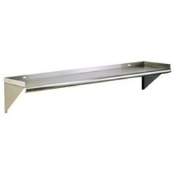 "10"" x 60"" Wall Shelves with Tab Lock, #SMS-83-WS1060TL"