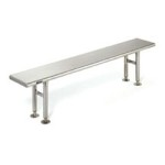 "12"" x 48"" Stainless Steel Finish, Solid Gowning Bench, #SMS-84-CRB1248"