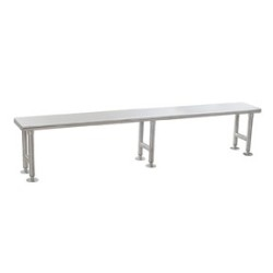 "12"" x 72"" Electropolished Finish, Solid Gowning Bench, #SMS-84-CRB1272EP"