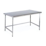 "24"" x 60"" Brushed Stainless Steel Finish, Cleanroom Table - Solid Top, #SMS-84-CRT2460T"