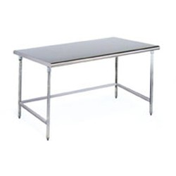 "24"" x 84"" Brushed Stainless Steel Finish, Cleanroom Table - Solid Top, #SMS-84-CRT2484T"