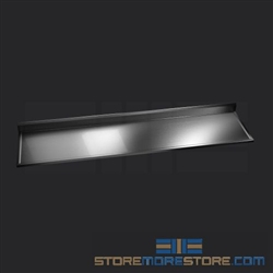 "102"" Stainless Steel Countertop with Stainless Steel Hat Channels - Box Marine Edge, #SMS-84-CTC30102-BM"