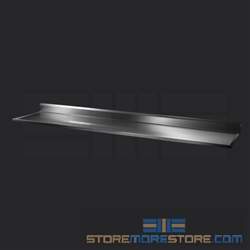 "108"" Stainless Steel Countertop with Stainless Steel Hat Channels - Box Marine Edge, #SMS-84-CTC30108-BM"