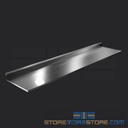 "114"" Stainless Steel Countertop with Stainless Steel Hat Channels - Square Edge, #SMS-84-CTC30114-SQ"