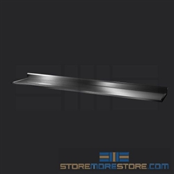 "126"" Stainless Steel Countertop with Stainless Steel Hat Channels - Box Marine Edge, #SMS-84-CTC30126-BM"