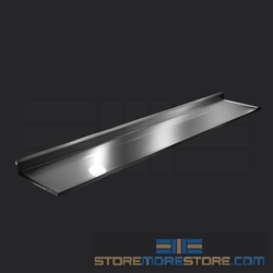"132"" Stainless Steel Countertop with Stainless Steel Hat Channels - Box Marine Edge, #SMS-84-CTC30132-BM"
