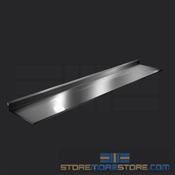 "132"" Stainless Steel Countertop with Stainless Steel Hat Channels - Square Edge, #SMS-84-CTC30132-SQ"