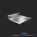 "24"" Stainless Steel Countertop with Stainless Steel Hat Channels - Box Marine Edge, #SMS-84-CTC3024-BM"
