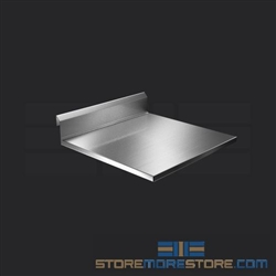 "24"" Stainless Steel Countertop with Stainless Steel Hat Channels - Square Edge, #SMS-84-CTC3024-SQ"