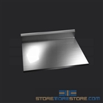 "30"" Stainless Steel Countertop with Stainless Steel Hat Channels - Square Edge, #SMS-84-CTC3030-SQ"