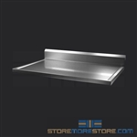 "36"" Stainless Steel Countertop with Stainless Steel Hat Channels - Box Marine Edge, #SMS-84-CTC3036-BM"