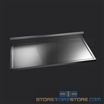 "48"" Stainless Steel Countertop with Stainless Steel Hat Channels - Box Marine Edge, #SMS-84-CTC3048-BM"