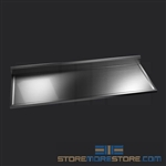 "66"" Stainless Steel Countertop with Stainless Steel Hat Channels - Box Marine Edge, #SMS-84-CTC3066-BM"