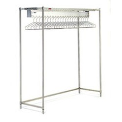"24"" x 60"" Electropolished Finish, Freestanding Gowning Rack with Hanger Slots. 22 Hanger Slots, #SMS-84-EP2460-GR"