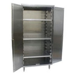"24"" x 36"" Slanted Top, Vertical Storage Unit, with Three Shelves. 416 Lbs. Weight Capacity Per Shelf, #SMS-84-VSCS2436-3"