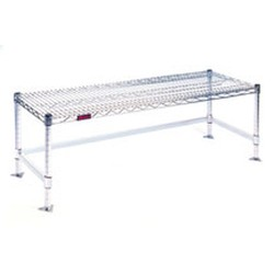 "14"" x 72"" Stainless Steel Finish, Wire Gowning Bench, #SMS-84-W1472-GBS"