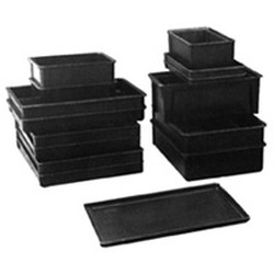 "24-7/8"" x 18"" Black, Molded Fiberglass Esd, Stacking Box, 4-1/2"" Depth, #SMS-85-A208511"