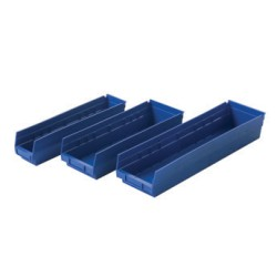 "23-5/8"" x 6-5/8"" x 4"" Blue, Exchange Bin - Storage Bin, 6 Carton Quantity, #SMS-86-A203889"