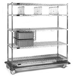 "24"" x 60"" x 70"" Exchange Cart - Ecd Series, 2 Tote Boxes and 3 Shelf Dividers, #SMS-86-ECD2460C"