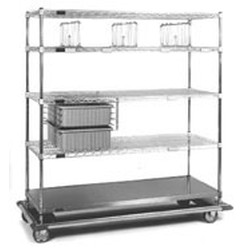 "24"" x 60"" x 70"" Exchange Carts - Esds Series, 2 Tote Boxes and 3 Shelf Dividers, #SMS-86-ECDS2460C"