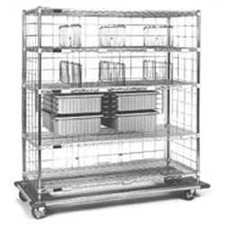 "21"" x 48"" x 72"" Exchange Cart - Ece Series, 2 Tote Boxes, 4 Shelf Dividers, and 1 Super Slide, #SMS-86-ECE2148C"