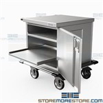 Labor & Delivery Case Carts Hospital Birthing Instrument Storage Eagle ELCSC-1