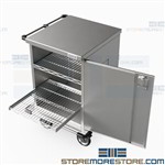 Closed Case Carts Surgical Instruments Transport Carts with Door Eagle ELCSC-2