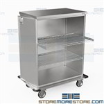 Stainless Procedure Carts Hospital Operating Instruments Transport Eagle ELCSC-4