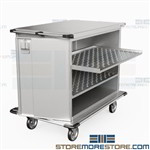 OR Case Carts Closed Stainless Hospital Surgical Instrument Carts Eagle ELCSC-5