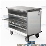 Operating Room Case Carts Closed Stainless Storage Transport Eagle ELCSC-5
