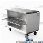 Closed Surgery Case Carts Stainless Transportation Storage OR Eagle ELCSC-6