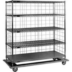 "24"" x 60"" x 72"" Heavy Duty Linen Cart. Dolly 29-3/4"" x 64-7/8"", #SMS-86-LCD2460C"