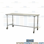 Sterile Processing Workstation | Instrument Table Prep Cart