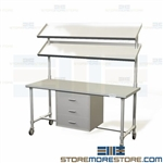 Sterile Processing Prep Tables | Stainless SPD Workbench