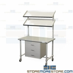 Stainless Prep Workstation | SPD Instrument Packing Cart