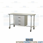 Sterile Processing Workbench | Mobile CSSD Wrapping Table