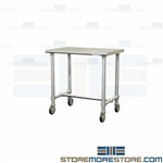 Stainless Prep Workbench | Sterile Food Handling Work Table