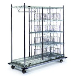 "24"" x 48"" Standard, Patient Article Cart, 24"" Intermediate Shelf, 8 Dividers, 12 Bin Markers and 12 Rods, #SMS-86-PC2448-C"