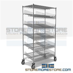 "18"" x 36"" x 69"" Five Shelf - Suture Cart, #SMS-86-SCH1836C-5"