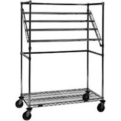 "24"" x 48"" x 68"" Chrome Finish, Sterile Wrap Cart, #SMS-86-SWC2448C"