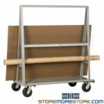 All-Welded Sheetrock Dolly Cart Move Doors Panels Partitions Swivel Wheels